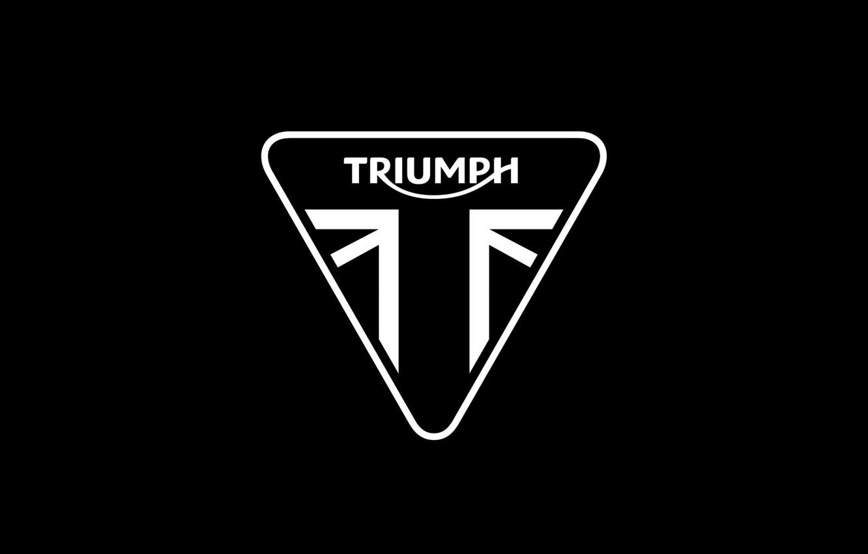 Фото обои logo, moto, triumph