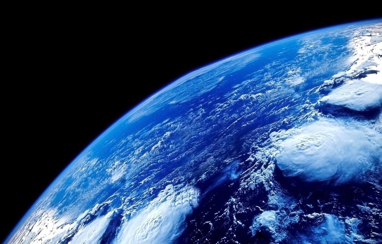 Фото обои вода, космос, поверхность, синий, пространство, океан, голубой, планета, атмосфера, Земля, Space, бездна, Earth, бесконечность, вакуум