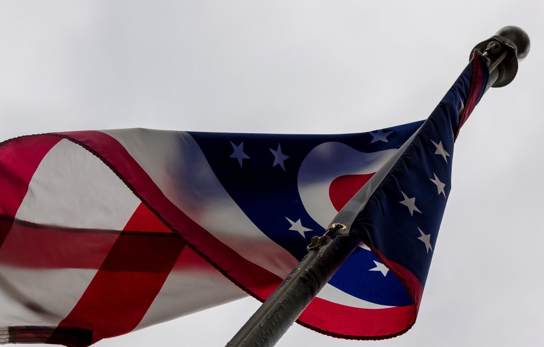Фото обои фон, flag, Heart of USA