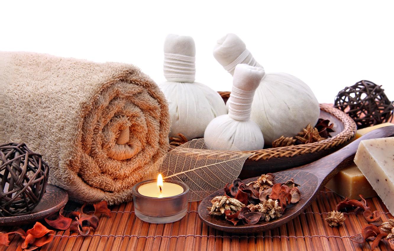 Обои salt, Spa, soap, towel, bath, candle. Разное foto 12