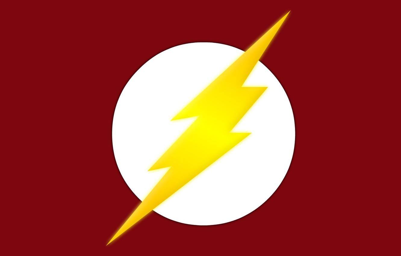 Фото обои red, logo, symbol, comics, Flash