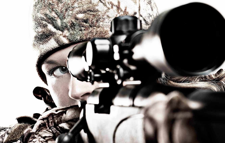 Картинки девушки снайпера