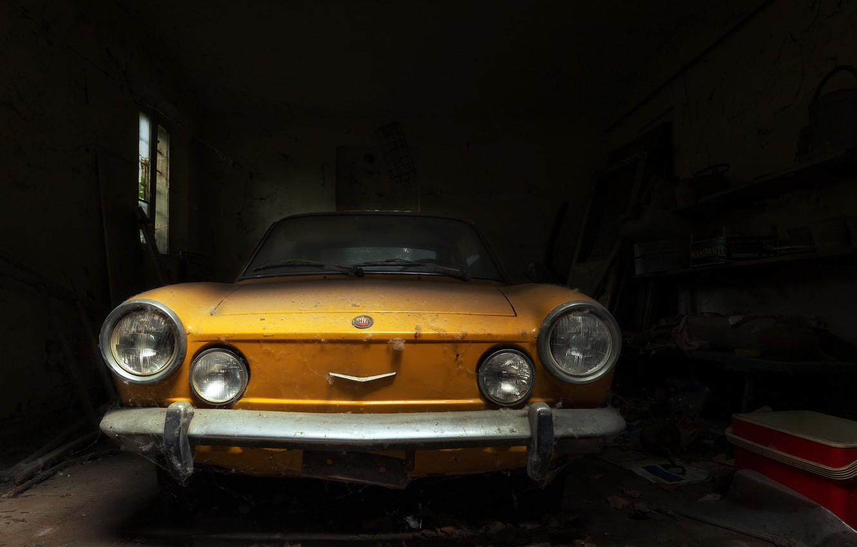 Фото обои машина, лом, Fiat