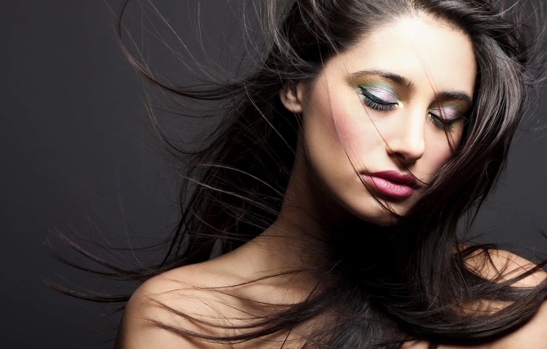 Фото обои девушка, актриса, красавица, girl, sexy, eyes, smile, beautiful, model, pretty, beauty, lips, face, hair, brunette, …