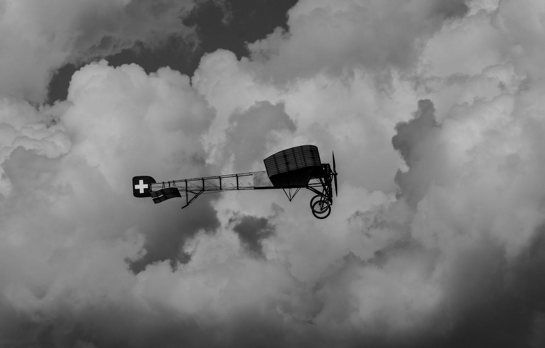 Обои Самолёт, швейцарии, блерио, Облака. Авиация foto 6