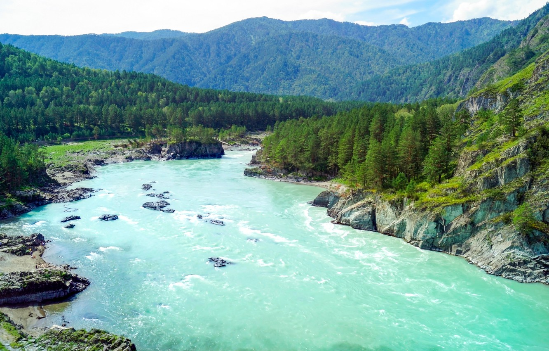 Обои красиво, Горная река. Природа foto 16