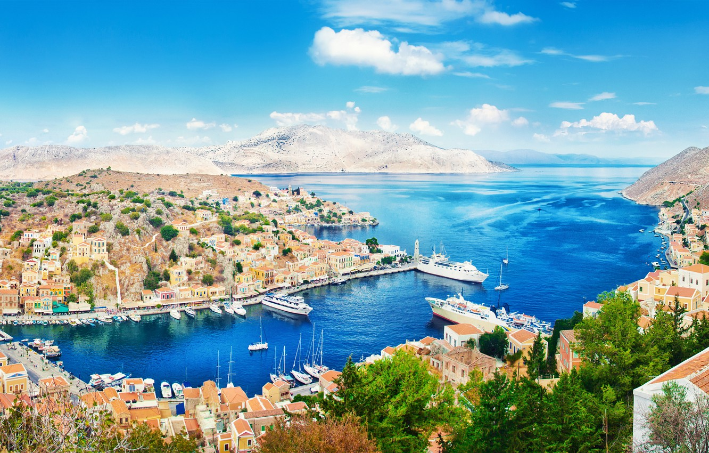 Обои побережье, причал, nice, лодки, дома. Города foto 17