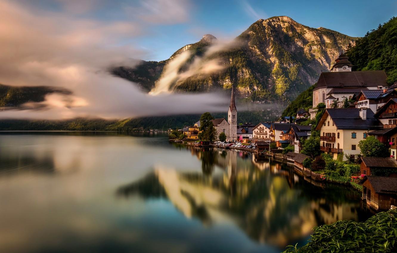 Обои hallstatt, lake hallstatt, австрия, гальштат, austria, alps. Города foto 14