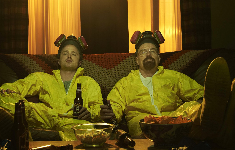 Фото обои сериал, актеры, персонажи, Breaking Bad, во все тяжкие, Брайан Крэнстон, Walter White, Jesse Pinkman, Аарон …