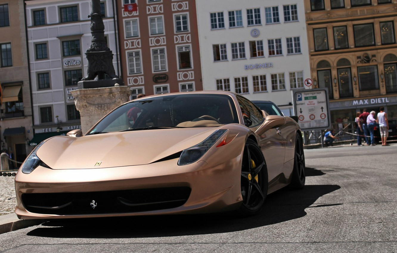 Фото обои авто, улица, суперкар, Ferrari 458 Italia, Ферари 458 италия