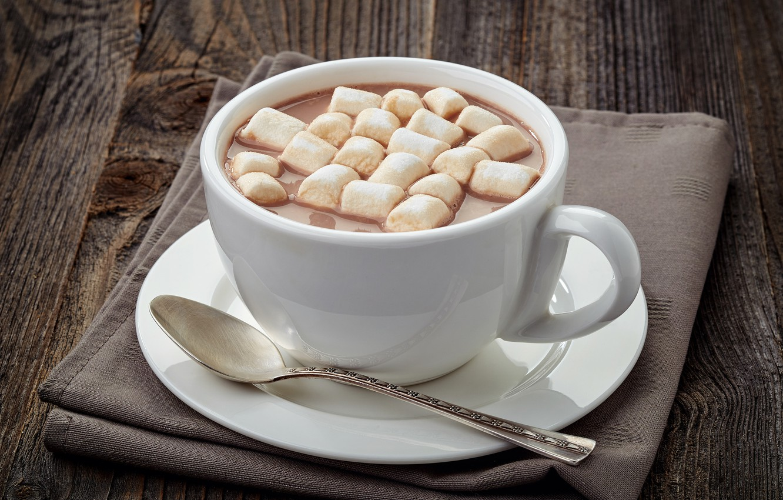 Фото обои зима, горячий, чашка, напиток, hot, cup, какао, cocoa, зефир