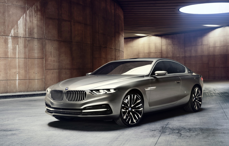 Фото обои фон, лампы, купе, BMW, БМВ, концепт, Coupe, передок, Гран Лассо, Gran Lusso