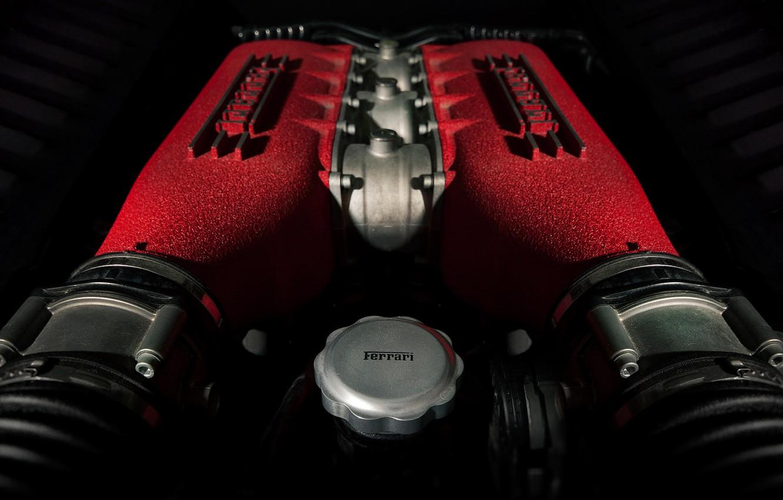 Фото обои Italia, Ferrari 458, Engine