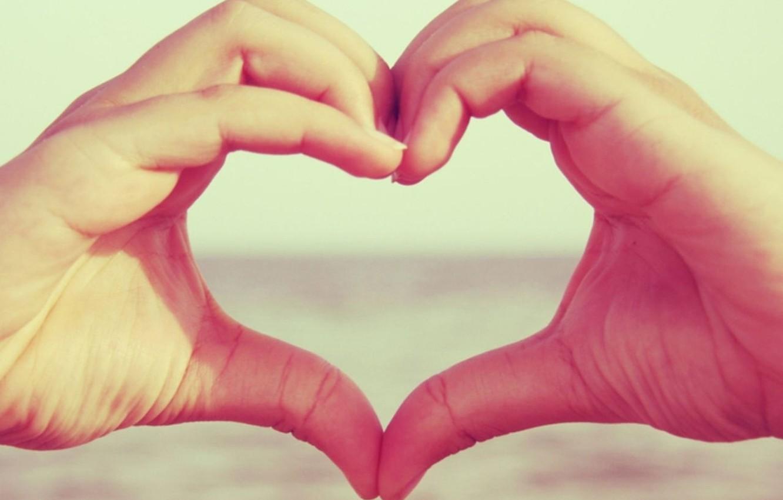 Фото обои макро, любовь, сердце, руки, love, чувство