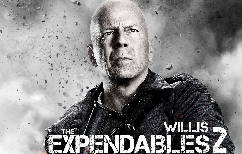 Фото обои Брюс, лысый, Bruce Willis, Неудержимые 2, Expendables 2