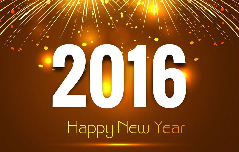 Фото обои New, Happy, Year, 2016
