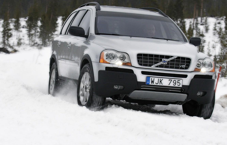 Фото обои зима, снег, Volvo
