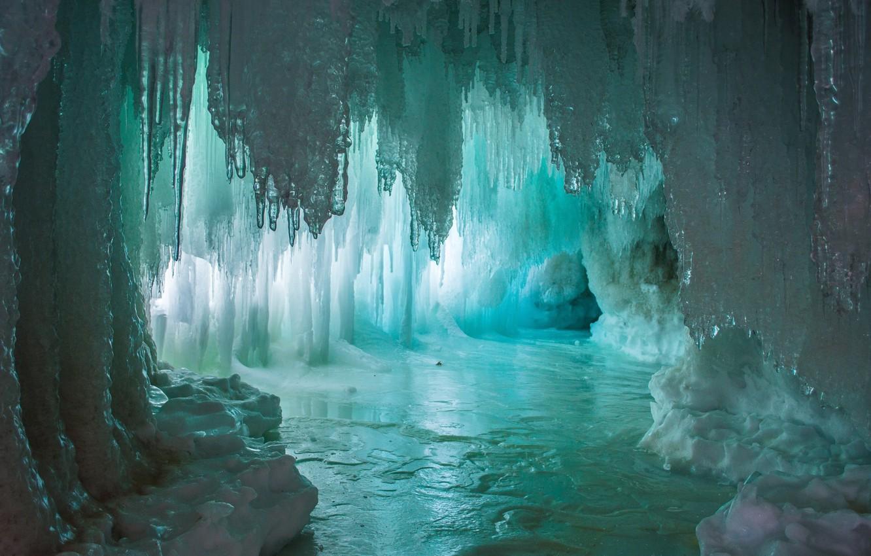 Фото обои вода, озеро, лёд, light, пещера, water, lake, грот, Ice, cave, сталагмиты, сталактиты, Emi, stalagmites, stalactites