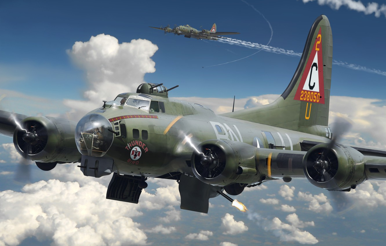 Обои Самолёт, B 17. Авиация foto 8