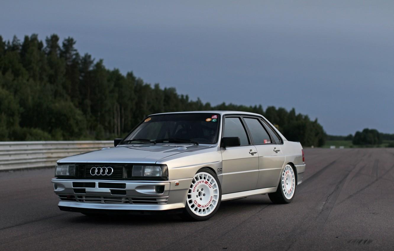 Фото обои Audi, Седан, Quattro, 1984, Полноприводный, В анфас