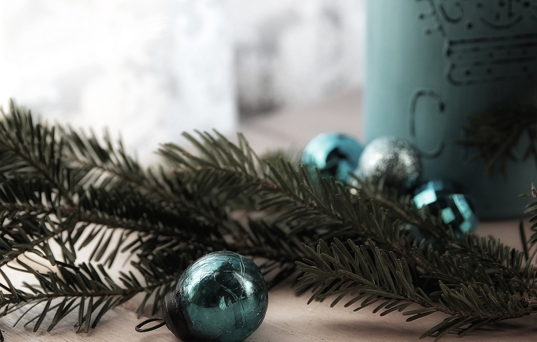 Фото обои макро, фон, праздник, игрушки