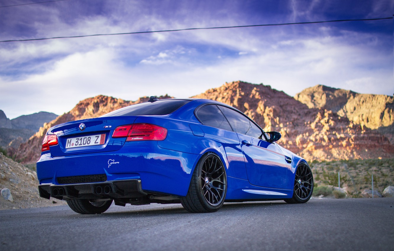 Обои Облака, синий, blue, Bmw, M3, задок. Автомобили foto 6