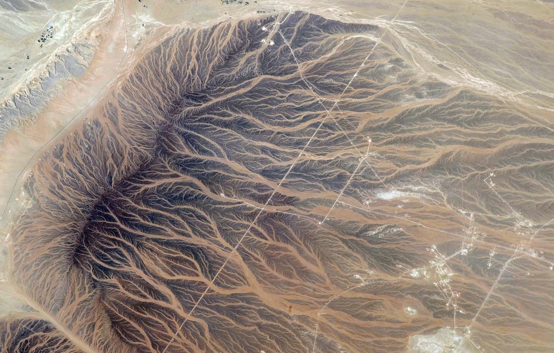 Фото обои космос, планета, Земля, NASA, реки, рельеф, снимок, foto, Oman, Tan'am