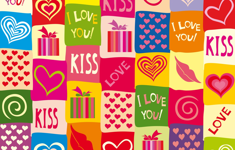 Фото обои любовь, colorful, сердечки, love, I love you, background, romantic, hearts, sweet