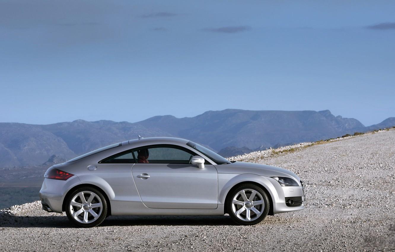Фото обои дорога, машина, горы, ауди, road, auto, mountains, audi tt