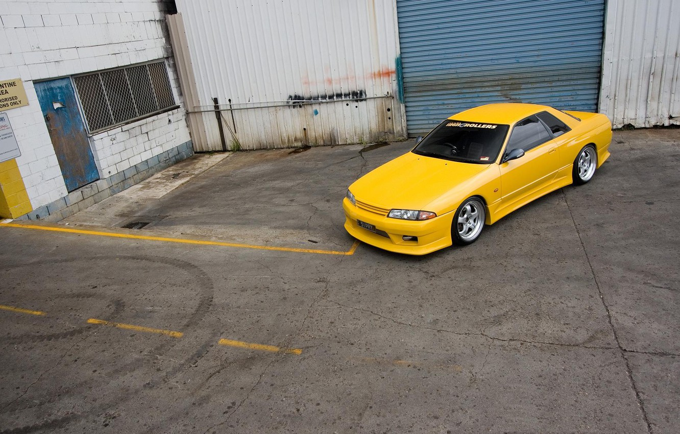 Фото обои nissan, R32, skyline, yellow