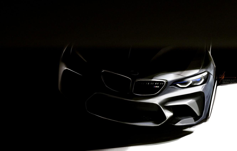 Фото обои бмв, F87, BMW Design
