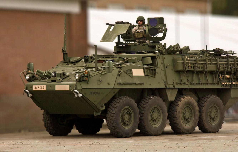 Фото обои страйкер, General Dynamics Land Systems, боевая бронированная машина, stryker