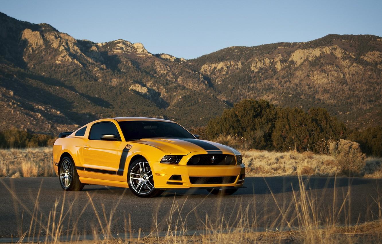 Фото обои форд, ford mustang, muscle car, автообои, boss 302