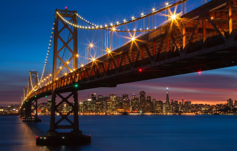 Обои калифорния, bay bridge, san francisco, california. Города foto 9