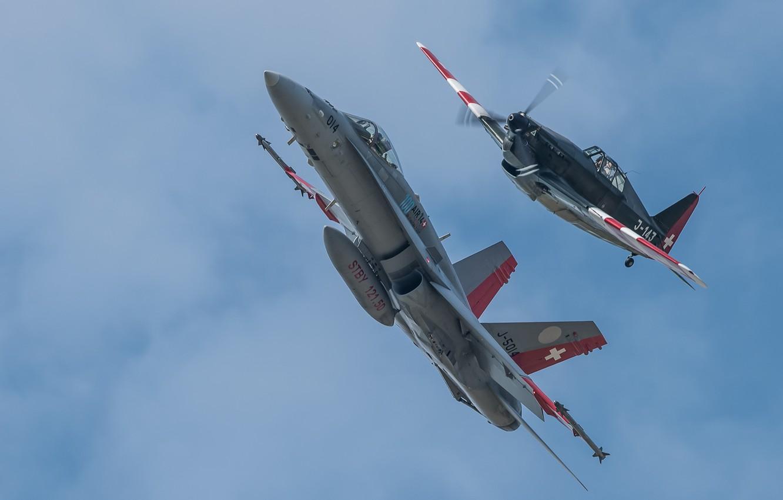 Фото обои полет, истребители, Hornet, CF-18, Morko-Morane