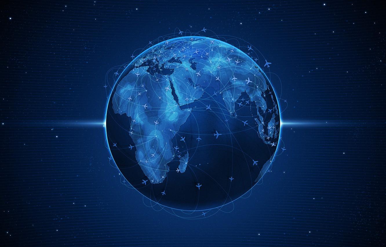 Фото обои земля, планета, Синий, самолеты