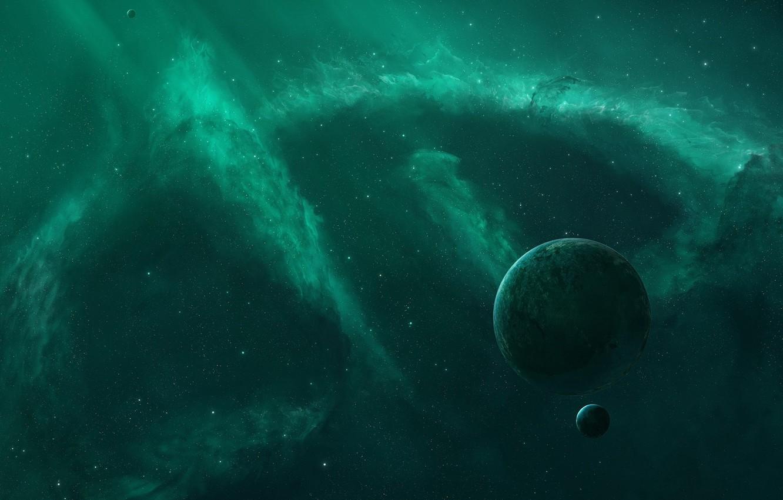Обои Бездна, пустота, планеты, туманность. Космос foto 6