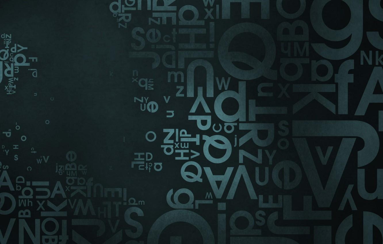 Фото обои буквы, хаос, английский
