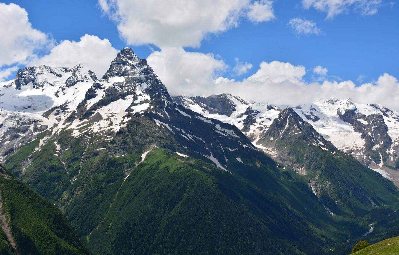 Днем, картинки домбай горы