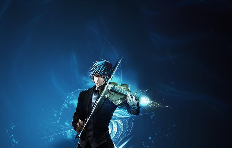 Фото обои музыка, скрипка, аниме, парень, музыкант