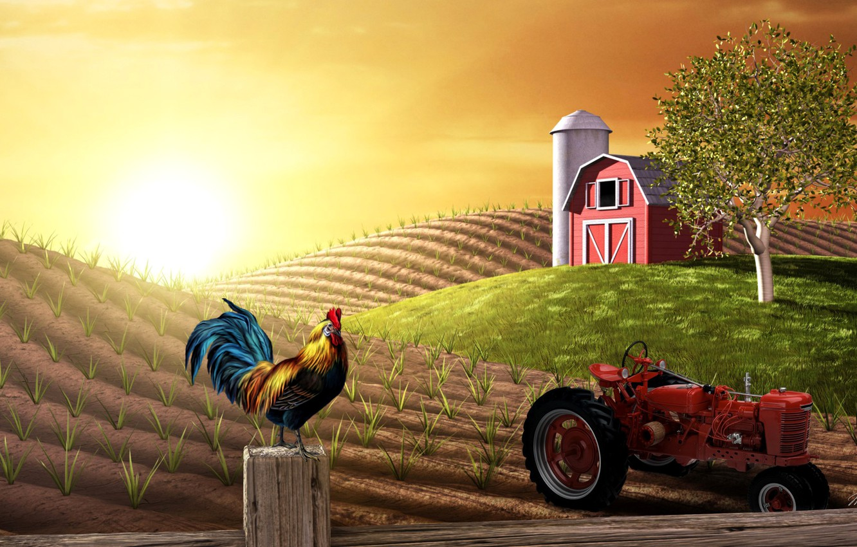 Обои сказка, Гриб, Коллаж, ферма. Разное foto 7