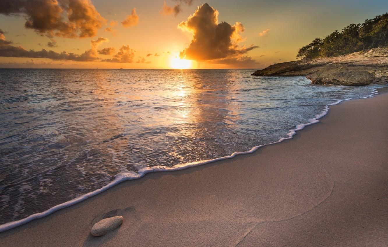 пляж берег закат живые картинки проявил фото