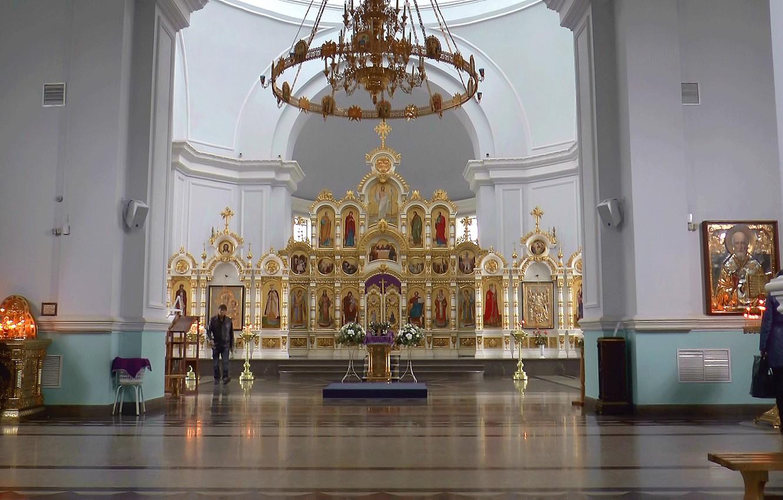 Фото обои интерьер, церковь, Храм, иконы, ОМСК, СИБИРЬ