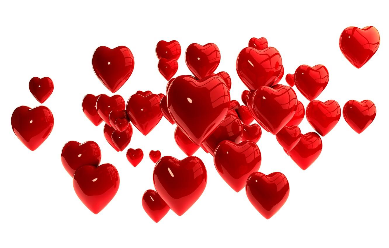 Фото обои сердечки, red, hearts