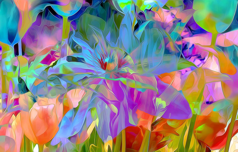 Обои луг, цветы. Абстракции foto 16