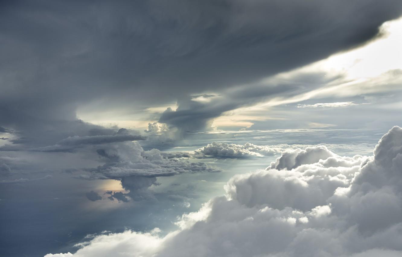Фото обои небо, облака, тучи