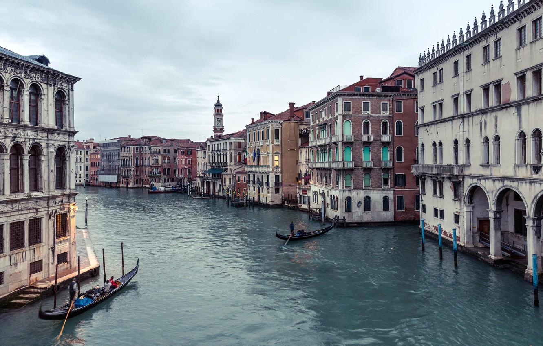 Обои Ступени, дома, венеция, лодка, утро, канал. Города foto 9