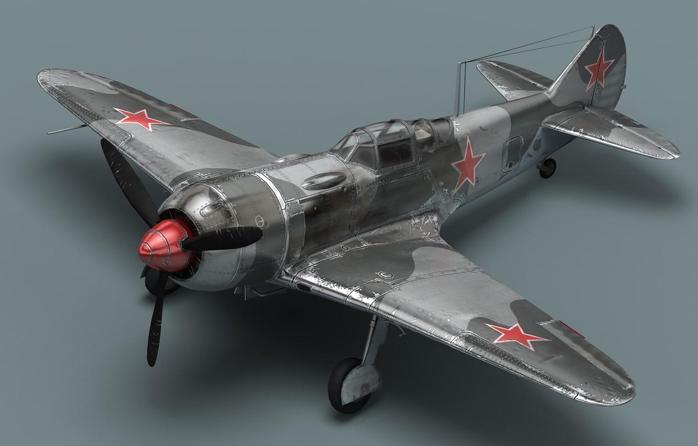Фото обои пропеллер, самолёт, Ла-7, Советский истребитель