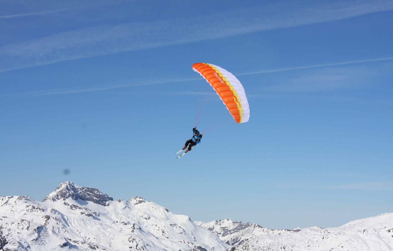 Обои Ski, speed rider, спидглайдинг, canopy, Лыжи, экстремальный спорт. Спорт foto 6