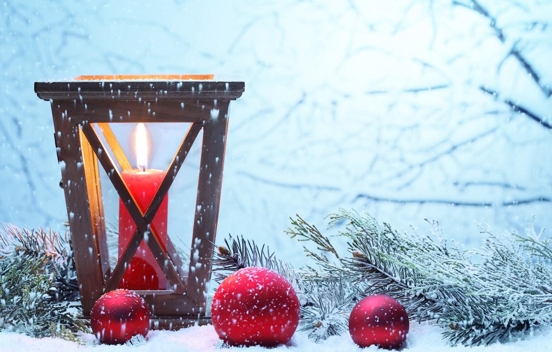 Фото обои зима, снег, Новый Год, Рождество, light, Christmas, winter, snow, Xmas, decoration, candle, lantern, Merry